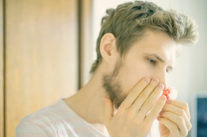 first aid for nose bleeding