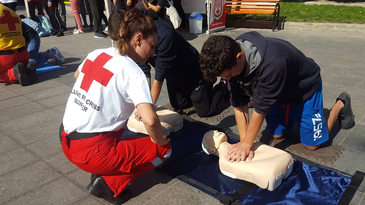 Taking Red Cross First Aid CPR Training